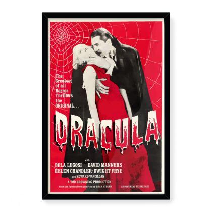 Vintage Dracula Movie Art Print - Large