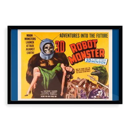 Robot Monster Vintage 'B' movie Art Print - Blue