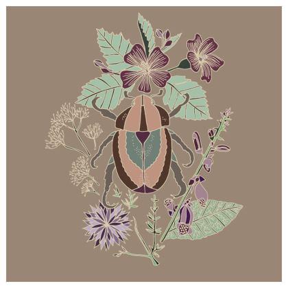 Floral Beetle Cushion