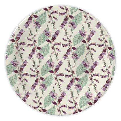 Foxglove China Plate