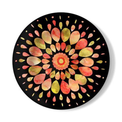 Mandala Art Pastel Illustration Decorative Plate