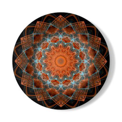 Mandala Art Illustration Decorative Plate
