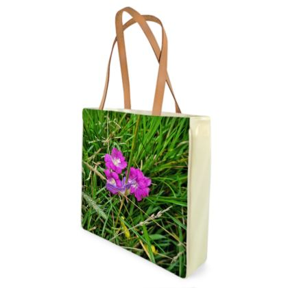 Pink Flower Shopper
