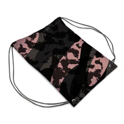 Vintage Pink Camo Swim Bag