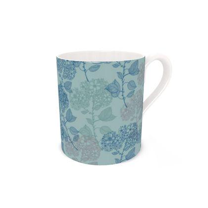 Bone China Mug - teal Milflor