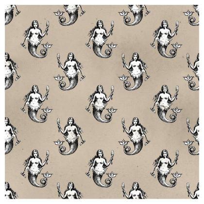 Mermaids Heraldic Ivory Maxi Skirt