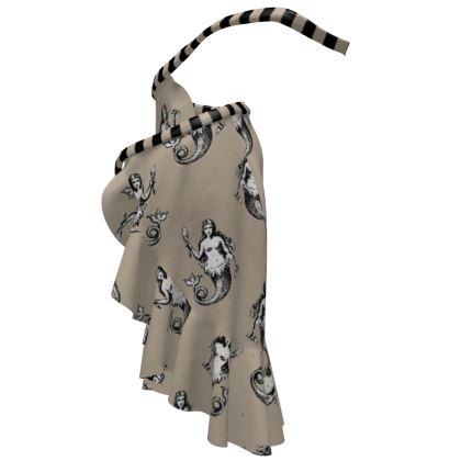 Mermaids Heraldic Ivory Beautiful Flounce Skirt