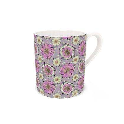 Pink and Cream Anemone Mug