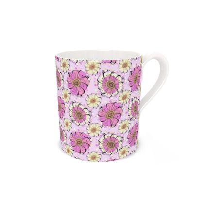 Pink Anemone Bone China Mug