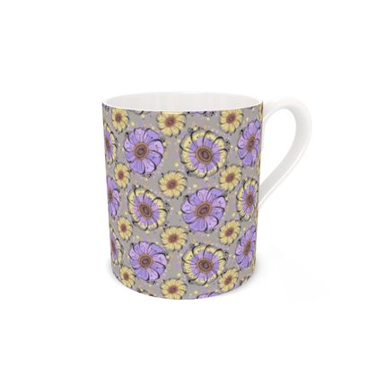 Lilac Anemone Bone China Mug