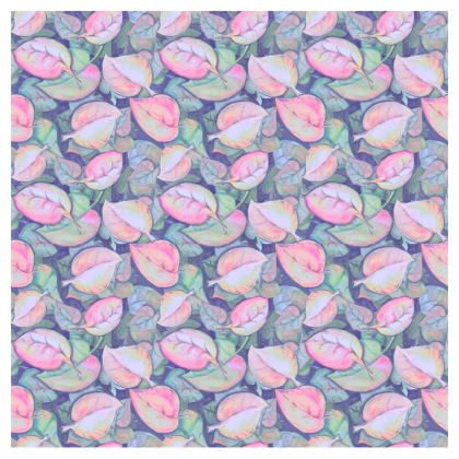 Small Cup and Saucer - Pastel leaves