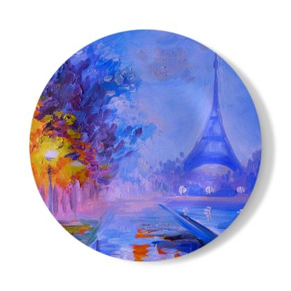Paris and the Eiffel tower Decorative Plate