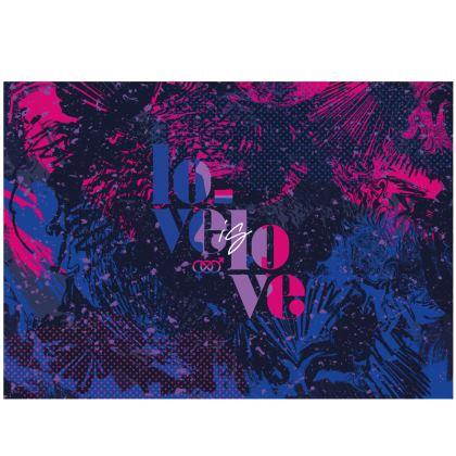 Love is Love Zip Top Handbag celebrating bisexuality
