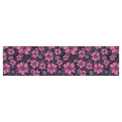 Cup and Saucer - Purple Flower Burst