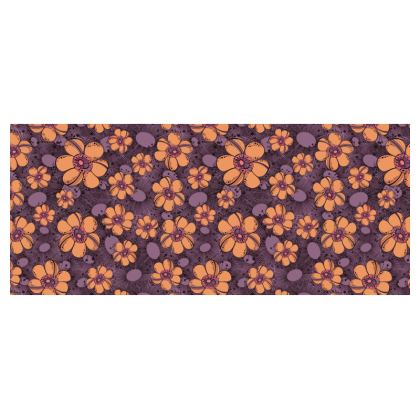 Small Cup and Saucer - Orange Flower Burst