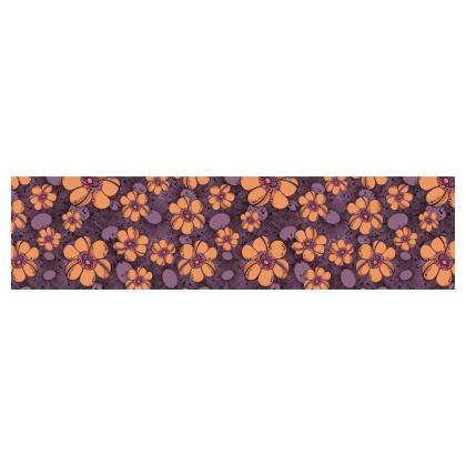 Cup and Saucer - Orange Flower Burst
