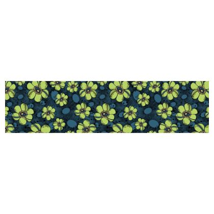 Cup and Saucer - Lime Flower Burst