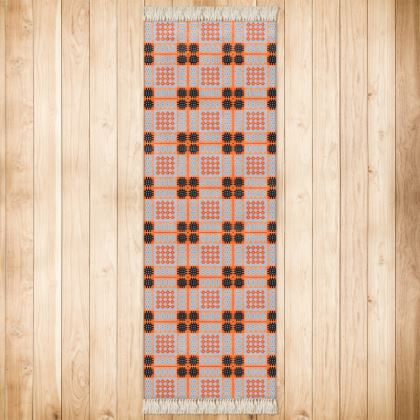 Orange and Grey Rug
