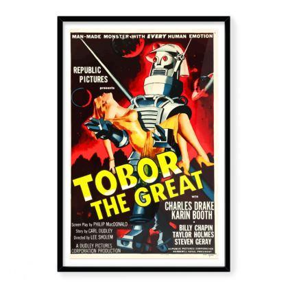 Tobor The Great Vintage 'B' Movie Premium Art Print