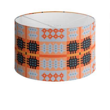 Orange Drum Lamp Shade