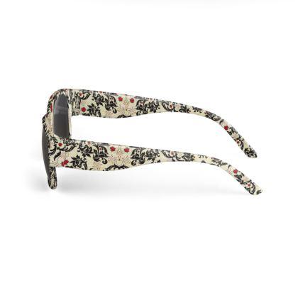 Vintage Floral Buoyancy Designer Sunglasses