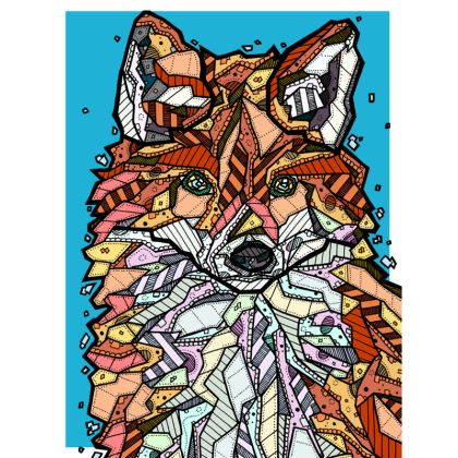 Abstract Fox Design Suitcase