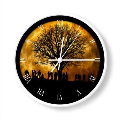 Full Moon Meditation Limited Edition Wall Clock