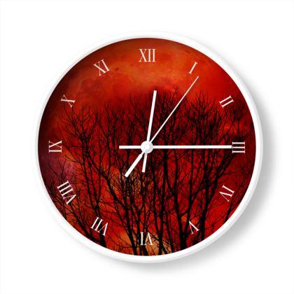 Orange Moon Limited Edition Wall Clock