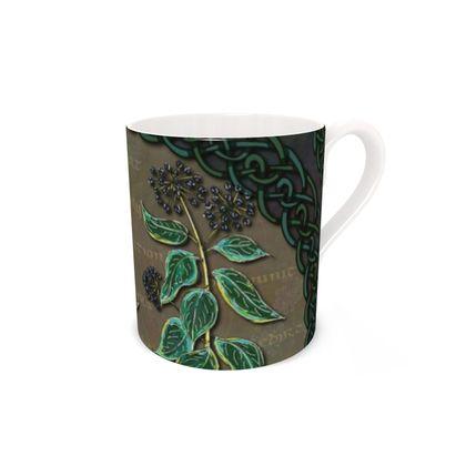 Celtic Ivy Bone China Mug