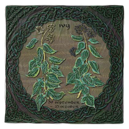 Tree Calendar Ivy Throw Blanket