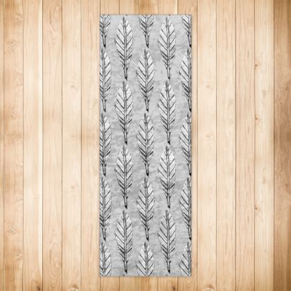 Black and White Feather Rug Runner 180 X 63 cm