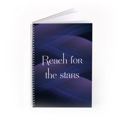 Reach For The Stars Purple Starry Cosmos Notebook