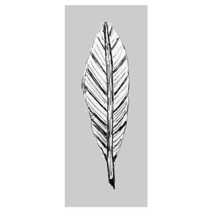 Black and White Feather Grey Flip-Flops