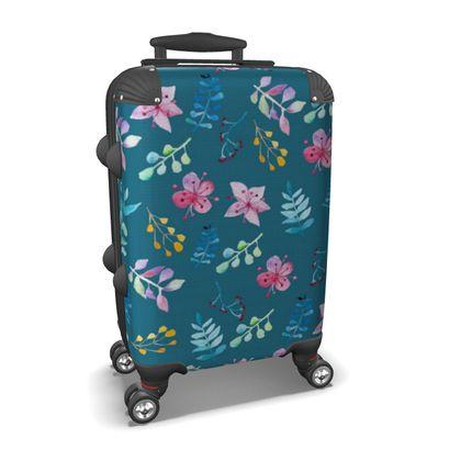Blue Flower Garden suitcase