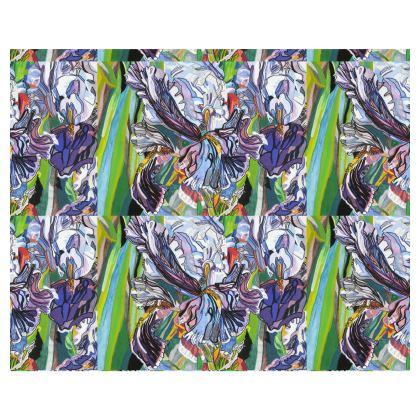 Iris Floral Print Kimono