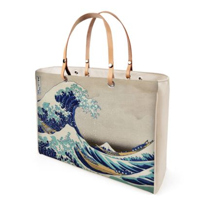 Kanazawa Oki Nami Ura Leather Handbag