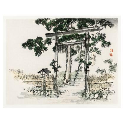 Shrine gate Leather Handbag