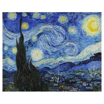 The Starry Night Leather Handbag