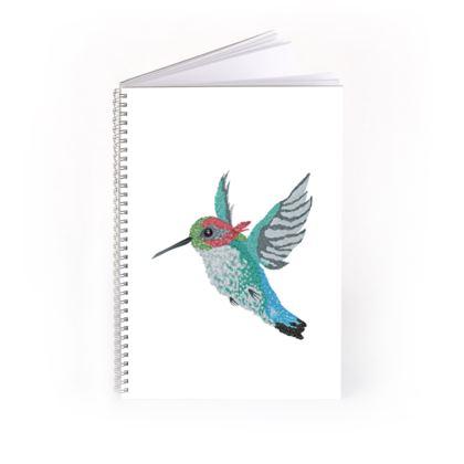 Bee Hummingbird Spiral Notebook
