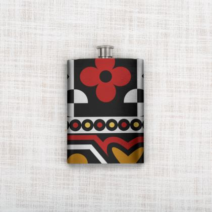 Samacaca red Hip Flask