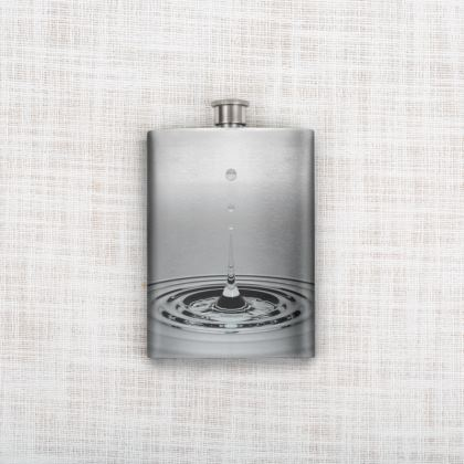 Water drop Hip Flask
