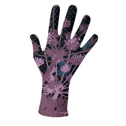 2 PAIRS PACK - Gloves / Cow Parsley Flowers on Black