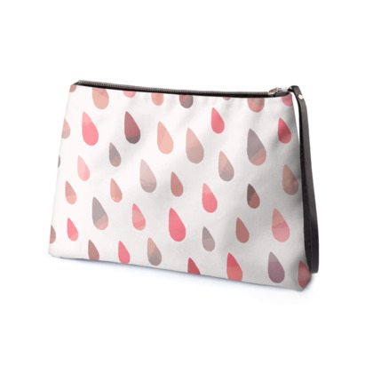 Rainbow Raindrops, Pink - Clutch Bag