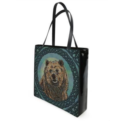 Celtic Brown Bear Shopper Bag