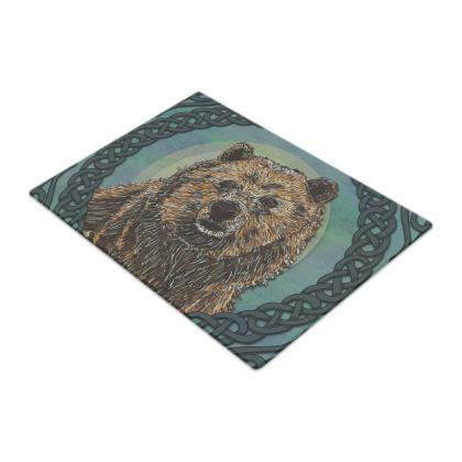 Celtic Brown Bear Chopping Board