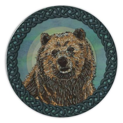 Celtic Brown Bear China Plate