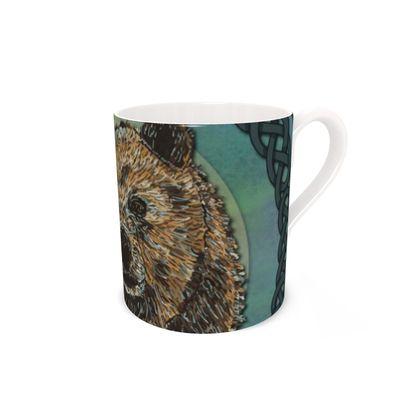 Celtic Brown Bear China Mug