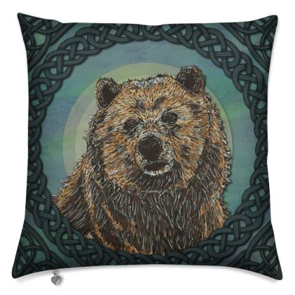 Celtic Brown Bear Cushion