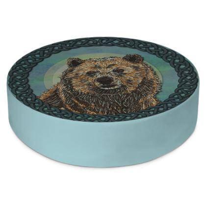 Celtic Brown Bear Floor Cushion