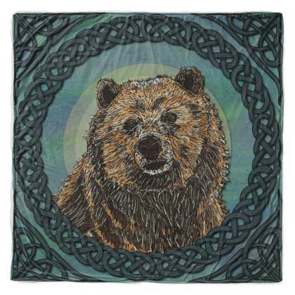 Celtic Brown Bear Throw